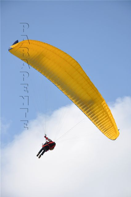 parapente texte incrusté transparent